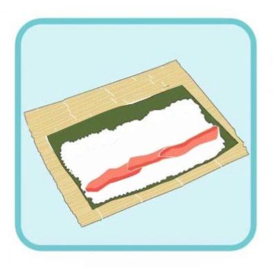 Aggiungere il salmone e l'avocado