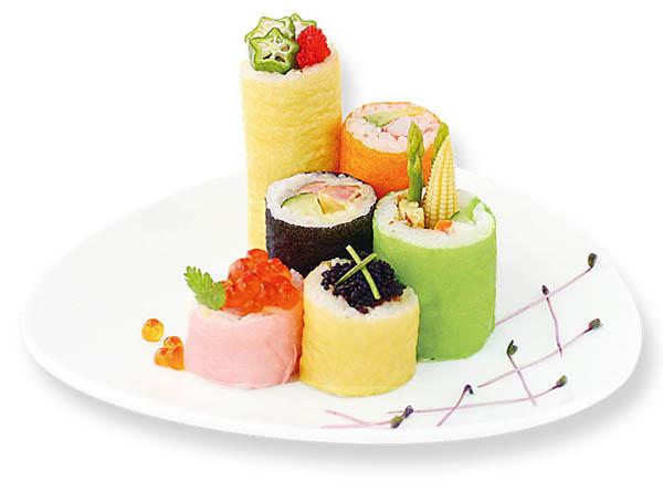 Fogli di soia colorati per sushi