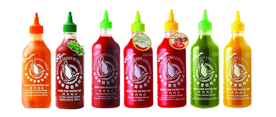 La gamma Sriracha Flying Goose